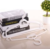 Multifunctional Non-Slip White Plastic Clothes Hangers with Hooks